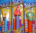 Bubbles SpongeBob, Patrick and Squidward Pez Set MIB