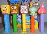 SpongeBob Bubbles, Glitter, Yellow Crystal, Pat & Squidward Pez