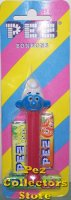 Smurfs Series I Smurf Boy Pez on Red Mint on Striped Card