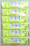 1 package of 6 rolls Sours Green Apple Flavor Pez Candy Refills