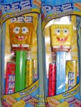 Pair of SpongeBob Pez - Bubbles and Yellow Crystal MIB
