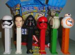 2019 Star Wars Ep. 9 Pez Set of 6- new Kylo, Sith Trooper, D-0