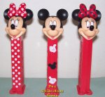 European Stylish Mickey and Mad about Minnie Pez Set of 3