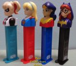 European Super Hero Girls Pez Set with Play Code Stems