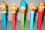 The Simpsons Family Pez set of 5 loose