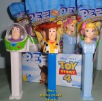 Toy Story 4 Little Bo Peep, revised Buzz and Woody Pez MIB