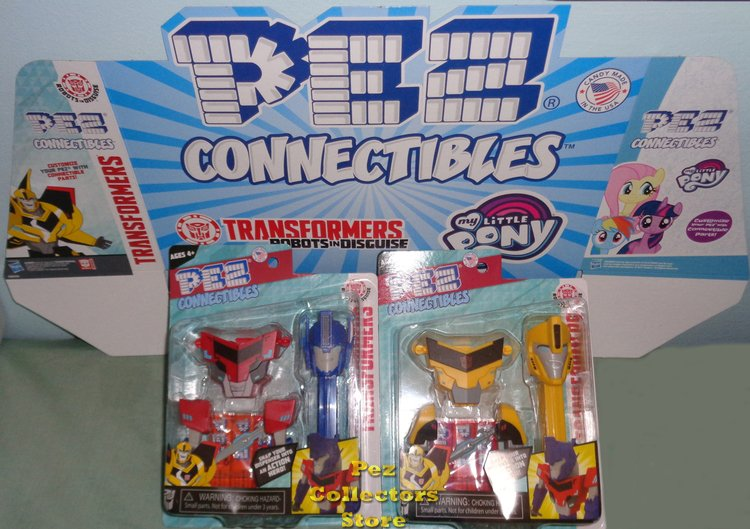 Transformers Connectibles Pez Set of 2 MOC - Click Image to Close