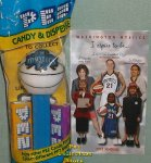 Washington Mystics Basketball Pez MIB with 2002 Schedule