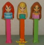 Winx Club Pez Set of 3 Stella, Flora and Bloom