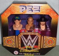 WWE Boxed Pez Set - John Cena, The Rock and Undertaker