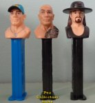 Loose WWE Pez Set - John Cena, The Rock and Undertaker