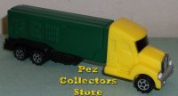 Yellow Cab V Grill on Green trailer Rigs Truck Pez Loose