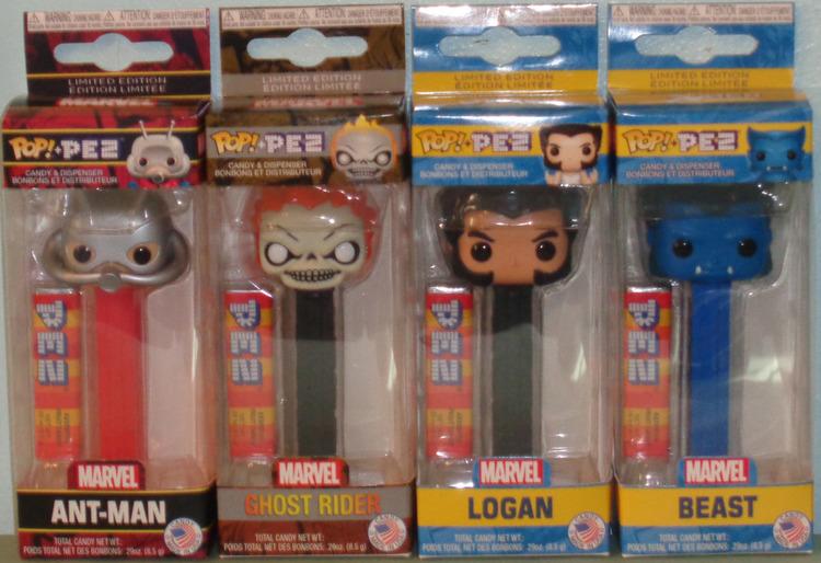 Marvel S2 SET OF 4 Funko POP PEZ Dispensers Ant-Man, Beast, Logan /& Ghost
