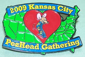 2009 KC PezHead Gathering Pin 1