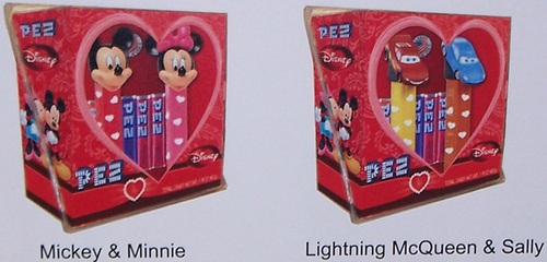 Mickey and Minnie, Lightning and Sally Couples Pez