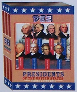 original mockup of Presidential Volume 1 Pez Set