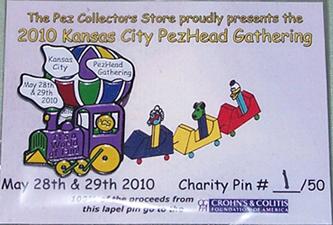 2010 KC PezHead Gathering CCFA Charity Pin