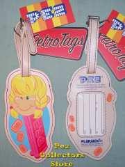 Pez Girl Luggage Tag
