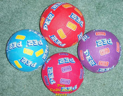 7 inch Basketball with Pez Logo and Candies