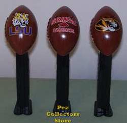 LSU Tigers, Arkansas Razorbacks and Mizzou Tigers Footballs