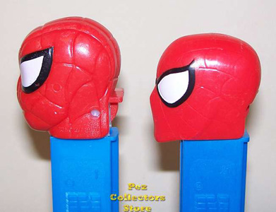 Old and New Spiderman Pez Profiles