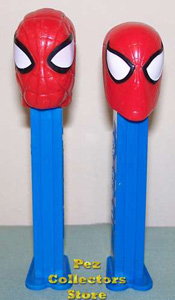 Old Spiderman Pez left, New Spiderman right