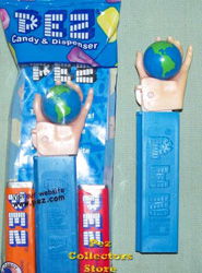 Unprinted FX Earth in Hand Pez Mint in Bag