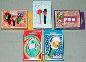 5 different Mini Pez Puzzles