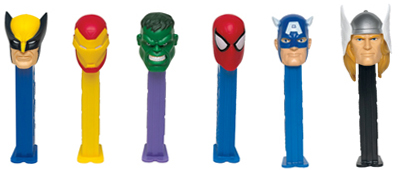 Marvel Superheroes Pez with Thor and Captain America