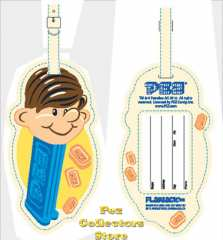 Boy Pez Luggage Tag