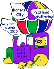 2010 KC PezHead Gathering CCFA Charity Pin