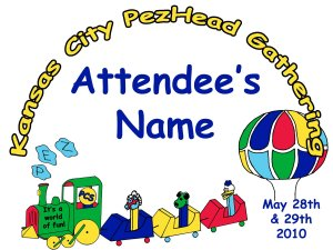 2010 KC PezHead Gathering Name Tag - Economy Registration