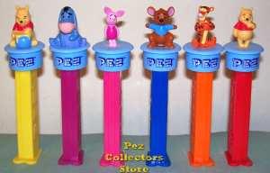 Winnie the Pooh Click 'n Play Pez set of 6