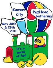 2010 KC PezHead Gathering Registration Pin
