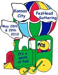 2010 KC PezHead Gathering Registration Pin