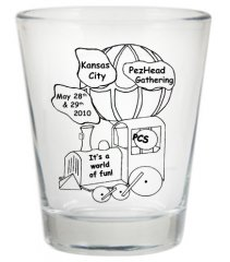 2010 Kansas City PezHead Gathering Shot glass