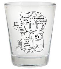 2010 Kansas City PezHead Gathering Shot glass