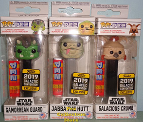 2019 Galactic Convention Exclusive Star Wars POP PEZ set