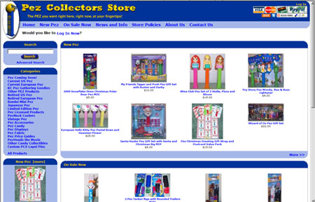 New Look for the Pez Collectors Store - Coming Soon!