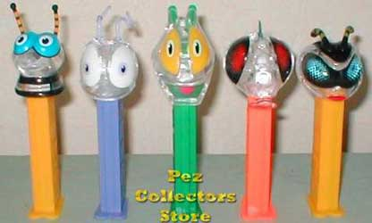 Clear Colorless Crystal Bugz Pez