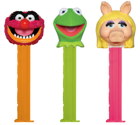 New Muppets Pez with Kermit, Animal and Miss Piggy