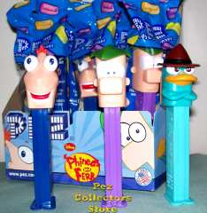 Phineas and Ferb with Perry Pez