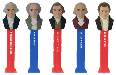 Presidential Volume 1 Set of 5 Pez