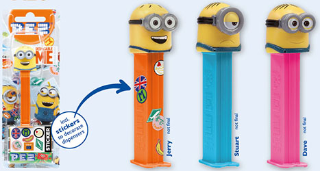 European Despicable Me 3 Minion Pez