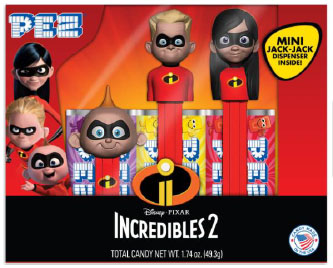 Incredibles 2 Pez Tripack