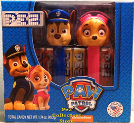 Paw Patrol Pez Twin Pack with Chase and Skye