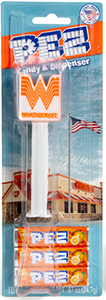 Whataburger Promotional Advertising Pez Mint on Card