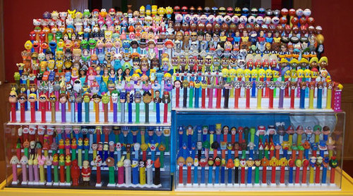 Backside of the Pez Display