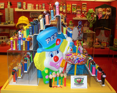 Peter Pez and Asterix with preproduction pez and pieces