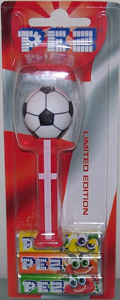 Danish Soccer Ball Pez Mint on Card